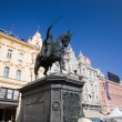 Zagreb, Croatia. Ban Jelacic statue  — Stock Photo