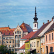 Old town buildings in Budapest, Hungary — Stock Photo