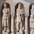 Statues in the wall of Fisherman's Bastion. Budapest, Hungary — Stockfoto