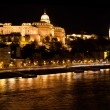Buda Castle by Danube river. Budapest, Hungary - Stock Photo