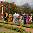ARUSHA, TANZANIA in AFRICA. A group of celebrating marriage — Stock Photo