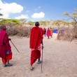 Maasai and their village in Tanzania, Africa — Stock Photo #18596161