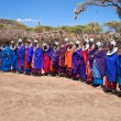 Maasai women in their village in Tanzania, Africa - Stock Photo