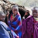 Maasai children portrait in Tanzania, Africa — Stock Photo