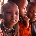 Maasai children in school in Tanzania, Africa — Stock Photo