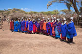 Maasai women in their village in Tanzania, Africa — Stock Photo