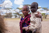 Maasai children portrait in Tanzania, Africa — Stock Photo