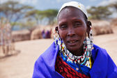 Maasai woman portrait in Tanzania, Africa — Stock Photo