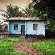 Poverty of Southern Kenya, bad condition houses — Stock Photo