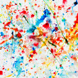 Colorful watercolor splash on white paper — Stock Photo #25104337