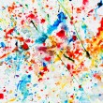 färgstark akvarell splash på vitt papper — Stockfoto