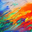 Colorful abstract acrylic painting — Zdjęcie stockowe
