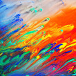 Colorful abstract acrylic painting — Stockfoto