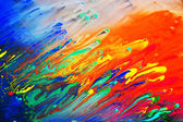 Colorful abstract acrylic painting — Stock Photo