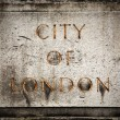 Old grunge stone board with City of London text — Stock Photo #26992239