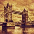 Tower Bridge in London, the UK. Vintage style — Stock Photo