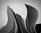 Business skyscrapers abstract conceptual architecture — Stock Photo