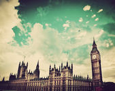 London, the UK. Big Ben, the Palace of Westminster — Stock Photo