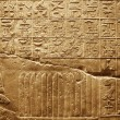 Old egypt hieroglyphs carved on the stone — 图库照片