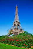 The Eiffel Tower in Paris France — Stock Photo