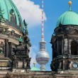 Berlin Catherdral and TV Tower, Berlin, Germany. — Stock Photo