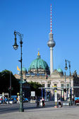Berlin Cathedral and TV Tower, Berlin, Germany — Stock Photo