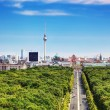 Berlin panorama. Berlin TV Tower and major landmarks — Foto de Stock