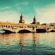The Oberbaum Bridge in Berlin, Germany — Stock Photo