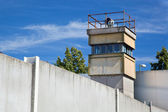 Berlin Wall Memorial, a watchtower in the inner area — Stock Photo