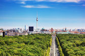 Berlin panorama. Berlin TV Tower and major landmarks — Stock Photo