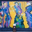 East side gallery - Berlinmuren. Berlin, Tyskland — Stockfoto