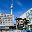 Alexanderplatz, view on Television tower. Berlin, Germany — Stock Photo #30867645