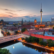 Stock Photo: Berlin, Germany major landmarks at sunset