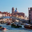 Venice, Italy. A bridge over Grand Canal — 图库照片