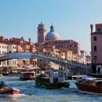 Venice, Italy. A bridge over Grand Canal — Stock Photo #34246505
