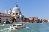 Venice, Italy. Basilica Santa Maria della Salute and Grand Canal — Stock Photo