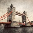 Tower Bridge in London, England, the UK. Vintage style — Stock Photo