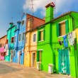 Colorful houses on Burano island, near Venice, Italy — Stock Photo