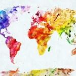 Watercolor world map — Zdjęcie stockowe