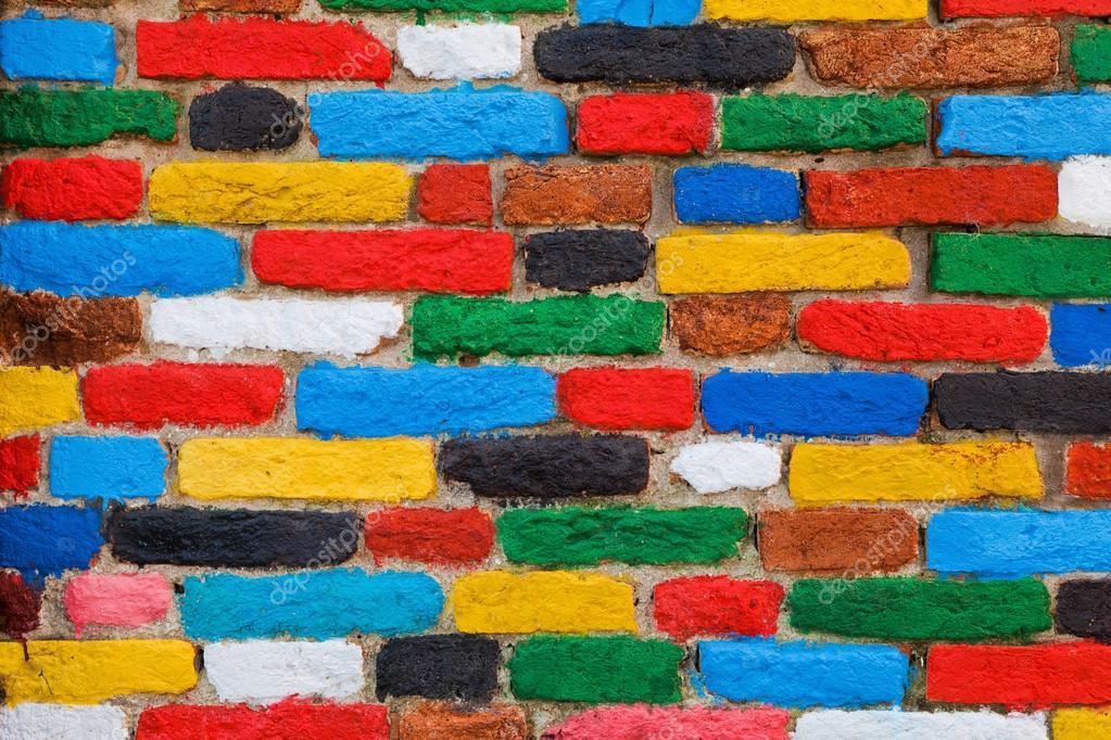 Pared de ladrillos colores fondo nico fotos de stock - Ladrillos de colores ...