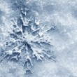 Winter, Christmas background. Snowflake on snow — Stock Photo