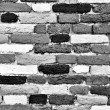 Black and white brick wall of many shades — Stock Photo