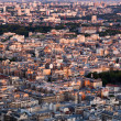 Paris, France view from the top on a residential district — Stock Photo #36827405