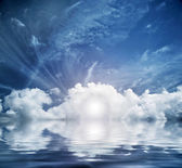 Divine sky, heaven. Conceptual entrance to new life — Stock Photo