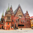 Stock Photo: Wroclaw, Poland. Town Hall on market square. Silesia