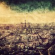 Paris, France at sunset. — Stock Photo