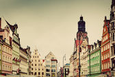 Wroclaw, Poland in Silesia region. The market square — Stock Photo