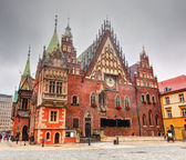 Wroclaw, Poland. The Town Hall on market square. Silesia — Stock Photo