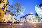 Wroclaw, Poland in Silesia region. The market square at night — Stock Photo