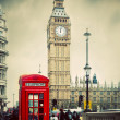 Red telephone booth and Big Ben — Stock Photo #42274733